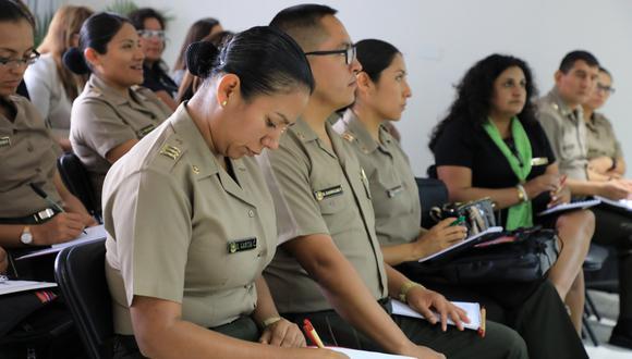 Personal de la Policía Nacional del Perú fue capacitado en temas de protección a niñas, niños y adolescentes en situación de vulnerabilidad (Foto: Mimp).