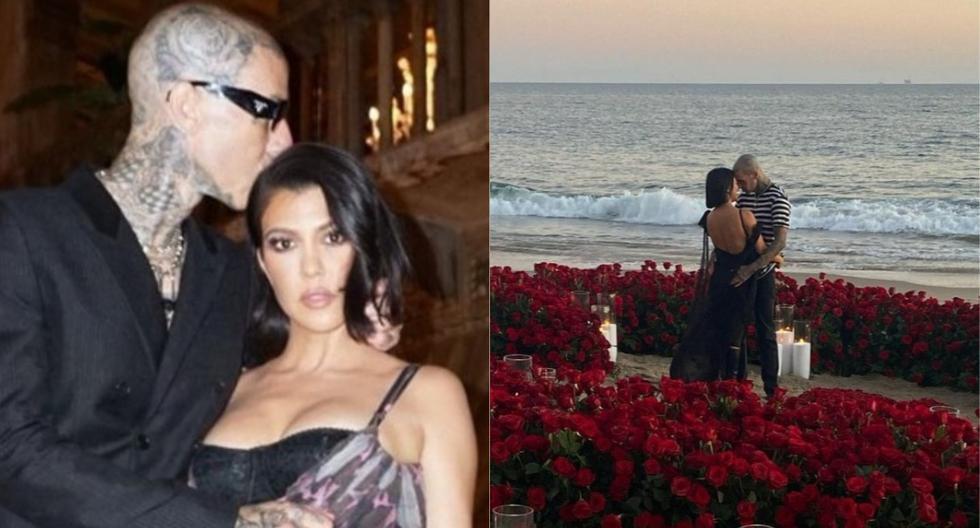 Kourtney Kardashian and Travis Barker got engaged in romantic oceanfront scene