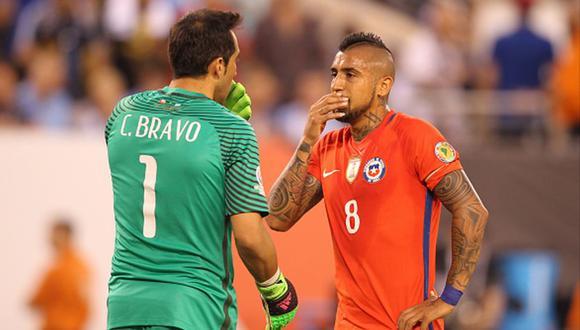 Claudio Bravo y Arturo Vidal ganaron con Chile dos Copas América: Chile 2015 y Estados Unidos 2016. (Getty)