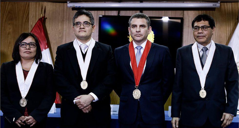 Fiscales integrantes del equipo especial Lava Jato: Geovana Mori, José Domingo Pérez, Rafael Vela (coordinador) y Germán Juárez.