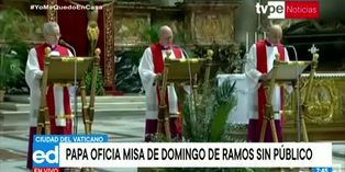 Coronavirus: papa Francisco oficia misa sin público