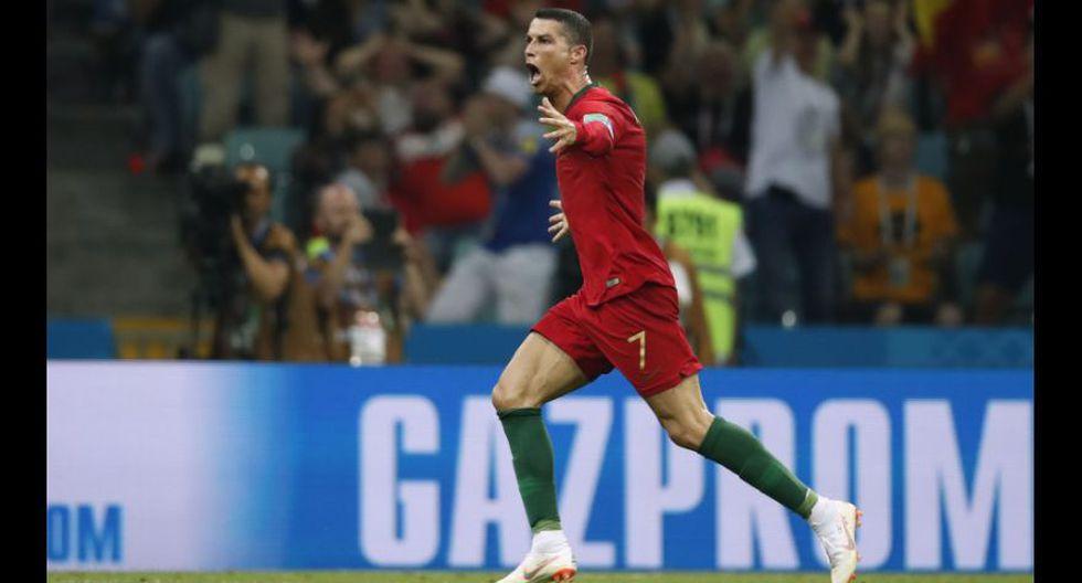 Cristiano Ronaldo celebra su tercer gol. (Foto: AFP)
