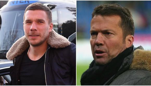 Lukas Podolski respondió en Twitter a Matthaus por criticas