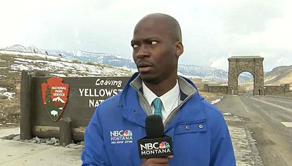 El incidente, protagonizado por Deion Broxton, un reportero del canal NBC, se viralizó en redes sociales. (Foto: Captura)