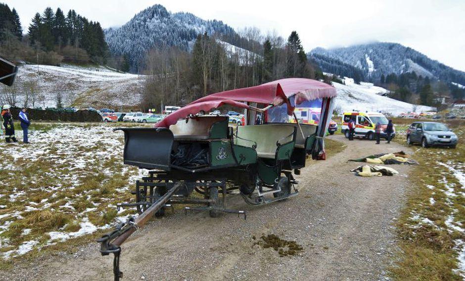 Entre los heridos del accidente en Alemania también habían menores de edad. (Foto: AP)
