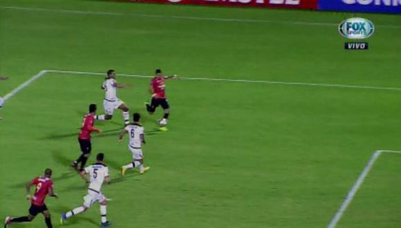 Melgar vs. Caracas: arequipeños fueron sorprendidos con este gol para el 2-0 que igualó la serie. (Foto: captura)
