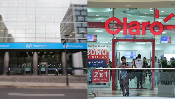 Las multas contra Movistar ascienden a S/ 1,024,800, mientras que las de Claro a S/ 2,742,600. (Fotos: GEC)