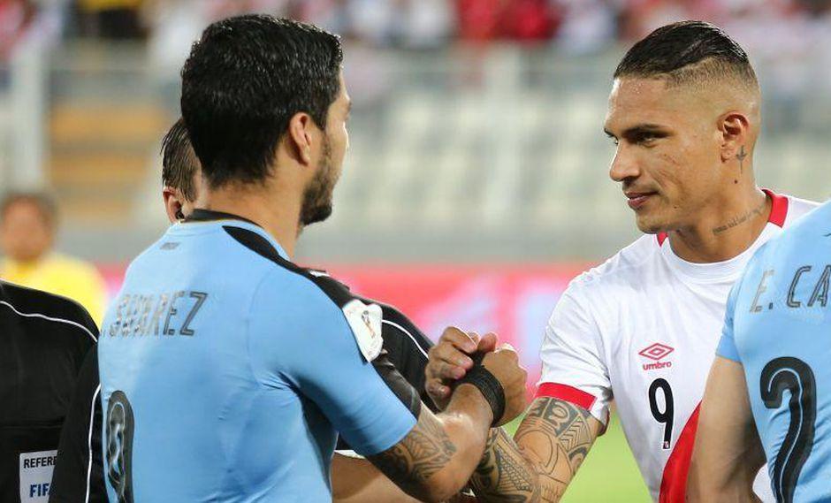 Luis Suárez resaltó las cualidades de Paolo Guerrero y Jefferson Farfán. También reconoció que el nivel de la selección peruana va en ascenso. (Foto: GEC)