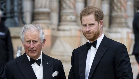 Carlos de Gales y Enrique de Sussex. (Foto: AFP)