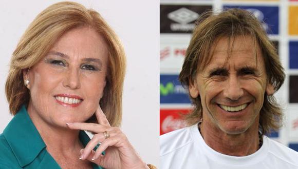 Mónica Delta y Ricardo Gareca en un cara a cara. (Fotos: El Comercio)