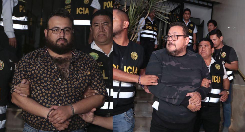 Los hermanos Frank y Jorge Chávez Sotelo siendo detenidos en Lima. (Foto: Hugo Pérez)