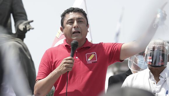 """""""Desde Perú Libre la falta de compromiso con las instituciones democráticas ha estado clara desde el primer día"""" (Foto: Yessica Vicente/Grupo El Comercio)."""