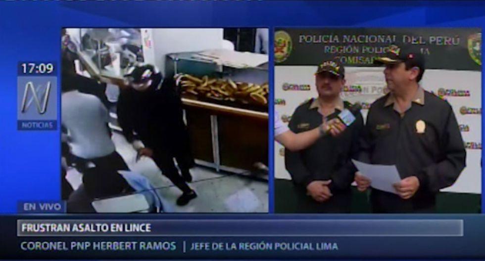 Delincuentes habrían seguido a su víctima desde que retiró dinero de un banco en el centro comercial Risso.(Canal N)