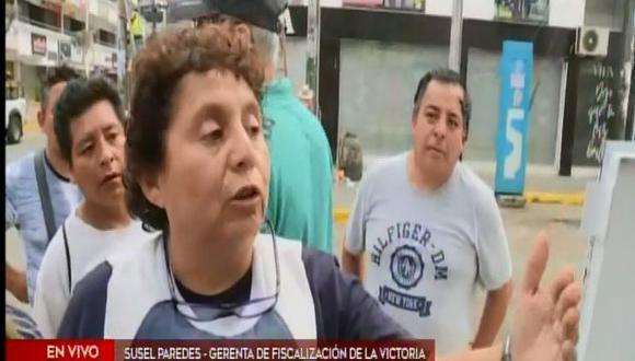 """Susel Paredes sentenció que los emolienteros tienen que pagar la cuota pues la cantidad de basura que producen """"es inmensa"""". (Foto: Captura 'América Noticias')"""