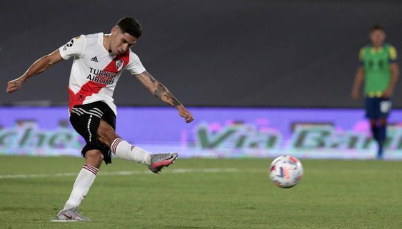 Gonzalo Montiel tiene mononucleosis, confirmó River Plate (Foto: AFP)