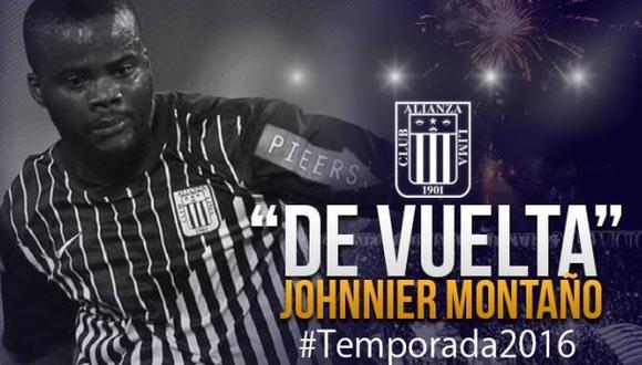Alianza Lima: Johnnier Montaño vuelve a reforzar al club íntimo