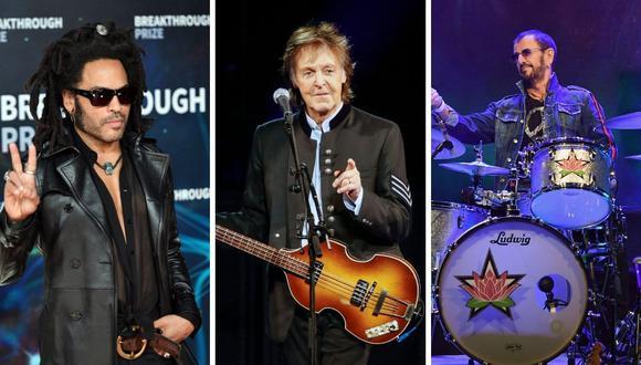 Ringo Starr decidió estrenar su nuevo tema al lado de varios amigos como Paul McCartney, Dave Ghrol y Lenny Kravitz. (Foto: AFP / Angela Weiss / Kamil Krzaczynski / Georg Wendt).