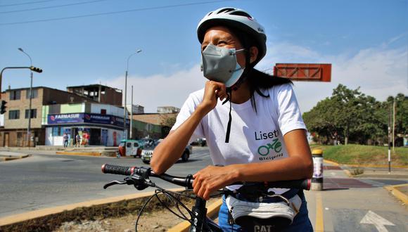 Lisseth León es una de las fundadoras de Biciterra, el proyecto que busca generar oportunidades para que más mujeres compartan el amor por el ciclismo. (Foto: Municipalidad de Lima)