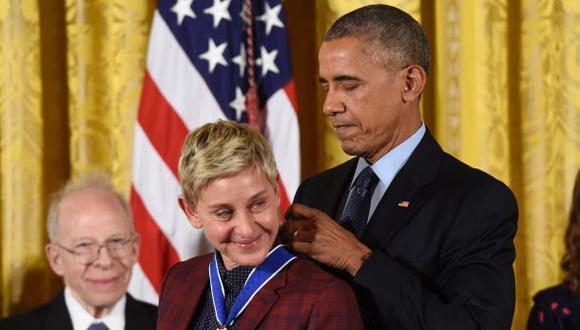 """Ellen calificó de """"increíble"""" condecoración que le dio Obama"""