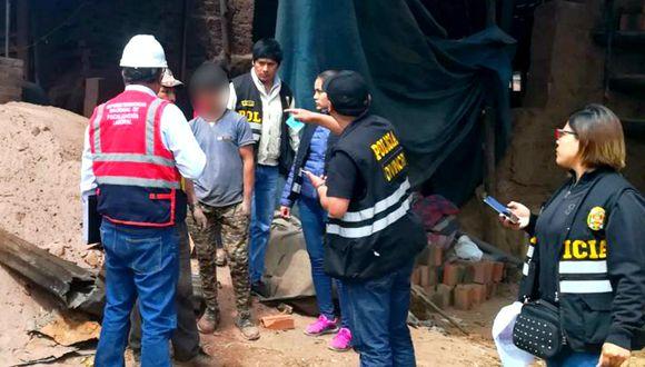 Cusco: hallan a ocho menores trabajando en zona de ladrilleras