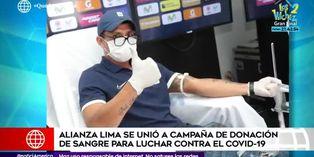 Jugadores de Alianza Lima participan en campaña de donación de sangre