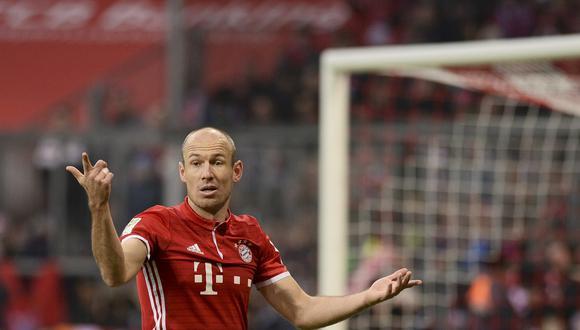 Arjen Robben lo ganó todo en su etapa como futbolista en el Bayern Munich. (Foto: AFP)