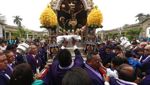 En este mes de octubre no se realizará la tradicional procesión del Señor de los Milagros debido al COVID-19. ( Foto: Alessandro Currarino / EC )