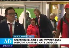 Perú vs Uruguay: Selección peruana llega a Montevideo para amistoso contra los 'charrúas'