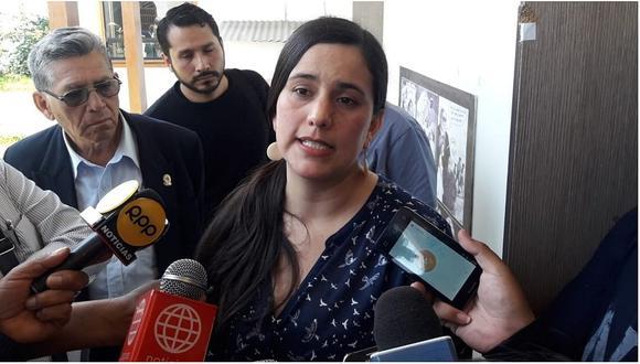 """""""Sí creo que es importante que Julio Guzmán aclare esta situación de la presumible huida frente a una situación de riesgo de otra persona"""", afirmó Verónika Mendoza (Foto: GEC)"""