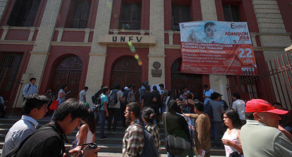 Imagen de archivo de una de las sedes universitarias de la Universidad Federico Villareal, que hoy consiguió su licenciamiento institucional. (Archivo / GEC)