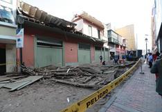 Cae balcón de casona del jirón Carabaya en el Centro de Lima