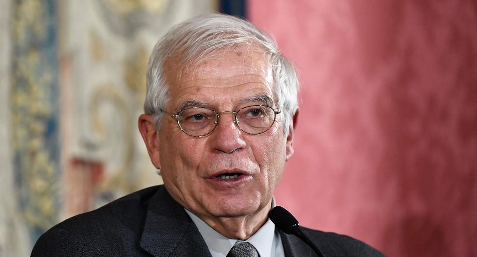 """Josep Borrell, representante de la Unión Europea para Asuntos Exteriores, expresó al canciller iraní Javad Zarif """"su profunda preocupación sobre el último incremento de confrontaciones violentas en Irak, incluido el asesinato del general Qasem Soleimani"""". (AFP / OSCAR DEL POZO)."""