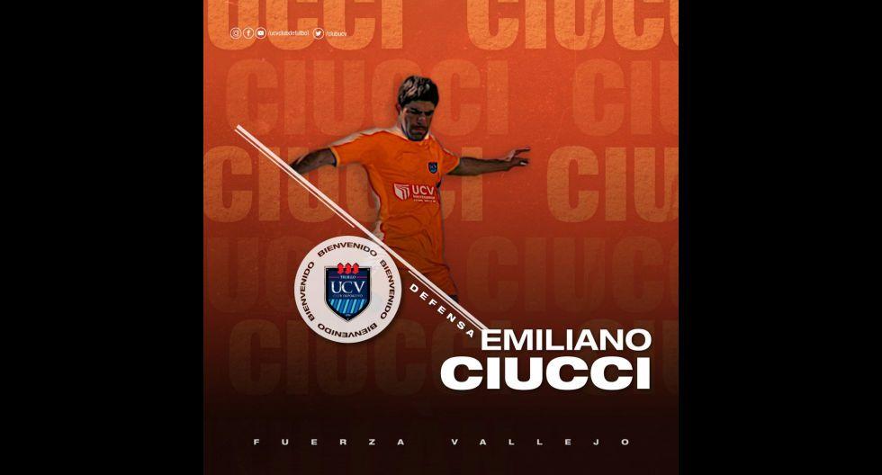Emiliano Ciucci procedente de UTC. (Foto: Twitter)