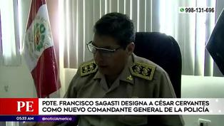 Francisco Sagasti designó a César Cervantes como nuevo comandante general de la PNP