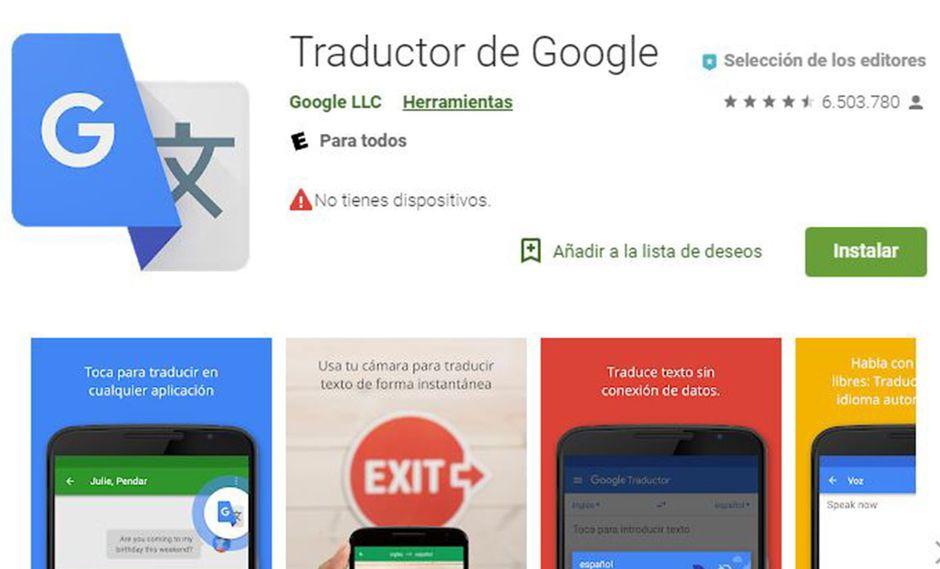 La app de Google Translate trae nuevas e importantes funciones. (Foto: Captura)