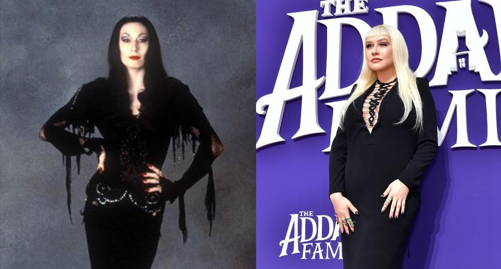 La cantante asistió a la premiere de la cinta 'The Addams Family' con un look inspirado en Morticia Addams. En esta galería, descubre los detalles. (Foto: Difusión/ AFP)