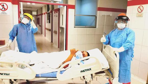 Paciente con coronavirus salió de UCI del hospital de Villa El Salvador y se recupera favorablemente. (Foto: Difusión)