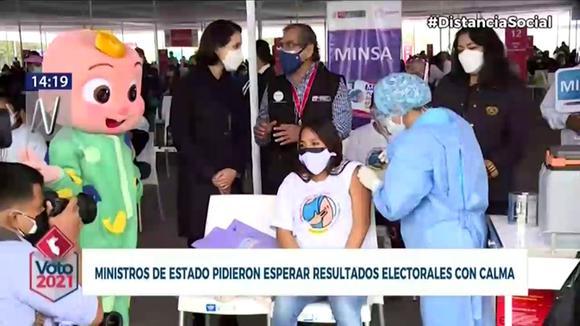 Violeta Bermúdez exhortó a la ciudadanía a esperar los resultados electorales de forma pacífica. (Canal N)