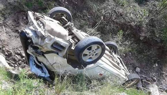 Huancavelica: mueren dos personas tras despiste de auto