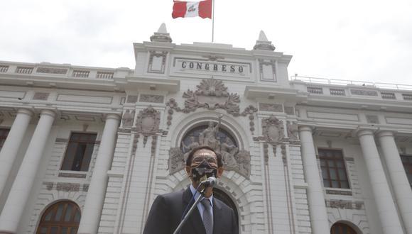 El presidente Martín Vizcarra acudió este lunes al Congreso. El Legislativo, luego, inició el debate de la segunda moción de vacancia. (Foto: Presidencia)