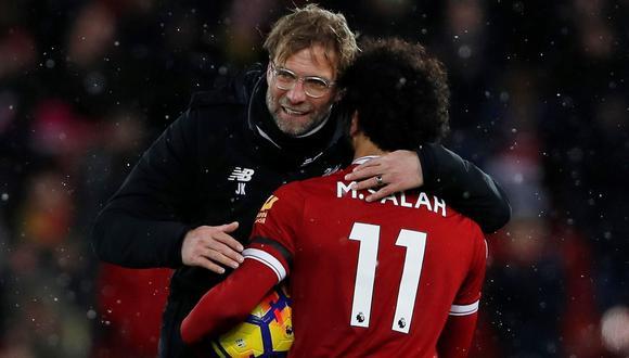 Klopp recuperó a Salah y podría sumar minutos mañana. (Foto: AFP)