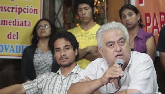 Por el Movadef firma la convocatoria su dirigente Manuel Fajardo, quien recientemente se enfrentó verbalmente al ministro Daniel Urresti, a propósito de la exposición de pinturas realizada por senderistas en prisión. (Foto arc