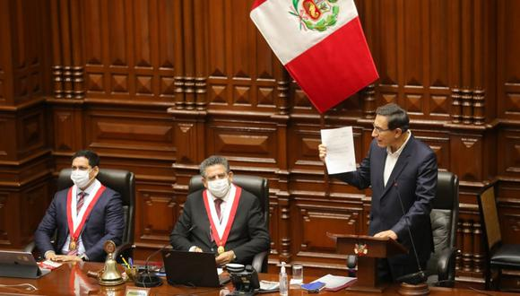 """""""Esta 'victoria' temporal está lejos de fortalecer a Vizcarra para gobernar el país los próximos diez meses"""". (Foto: Presidencia de la República)"""