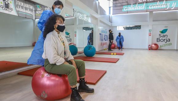 Los vecinos que hayan superado el coronavirus (COVID-19) podrán acceder al servicio de tratamiento y recuperación en el centro de rehabilitación ubicado en el polideportivo Limatambo. (Foto: Municipalidad de San Borja)