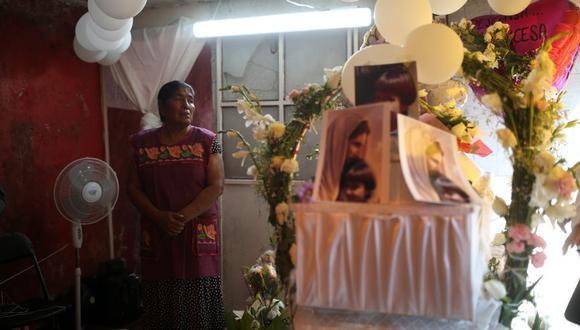 Funeral de Fátima, una niña de 7 años que apareció muerta en una bolsa de basura en México. (Foto: Reuters).
