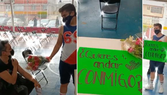 Joven acude a centro de vacunación en México y realiza una propuesta de noviazgo. (Foto: @eydoficial / TikTok)