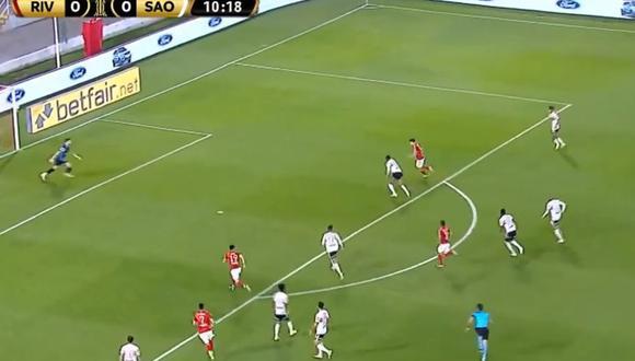 River Plate vs. Sao Paulo EN VIVO: Álvarez abrió el marcador para los 'Millonarios' con este golazo en Copa Libertadores - VIDEO