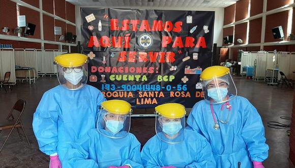 La Unidad de Control de Emergencias (UCE) Perú funciona en el auditorio de la Parroquia Santa Rosa de Lima, en Lince.