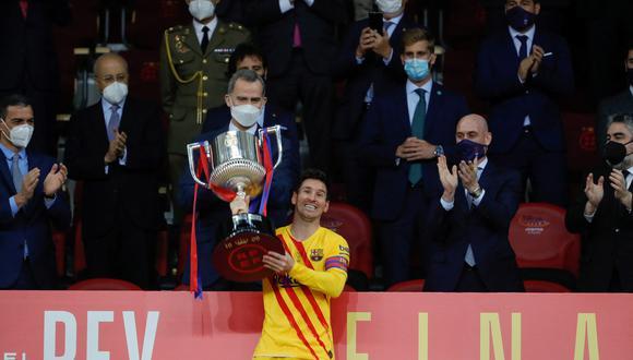 Messi también se convirtió en el máximo anotador de las finales de la Copa del Rey. (Foto: AFP)