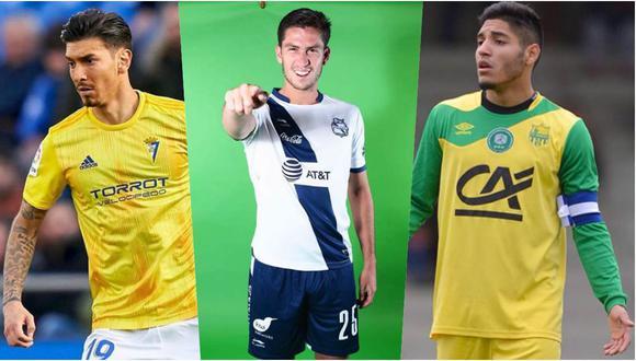 Santiago Ormeño, Jean Pierre Rhyner y Percy Prado siempre jugaron fuera del Perú y son opciones para la selección. (Fotos: Facebook)